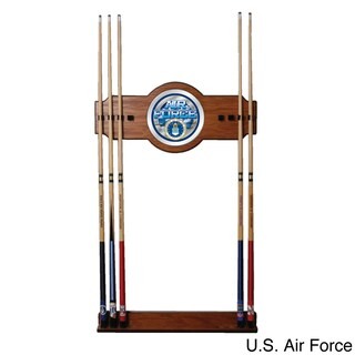 United States Military Wood and Mirror Wall Cue Rack (3 options available)