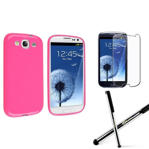 INSTEN Phone Case Cover/ Stylus/ LCD Protector for Samsung Galaxy S III/ S3