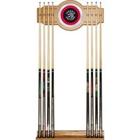 Officially Licensed NBA Hanging Billiard Cue Rack with Mirror