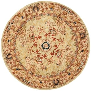 Safavieh Handmade Anatolia Oriental Ivory Hand-spun Wool Rug (6' Round)