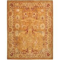 Safavieh Handmade Anatolia Oriental Straw Beige/ Ivory Hand-spun Wool Rug - 10' x 14'