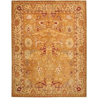 Safavieh Handmade Anatolia Oriental Straw Beige/ Ivory Hand-spun Wool Rug (10' x 14')