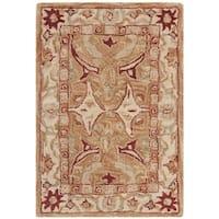 Safavieh Handmade Anatolia Oriental Straw Beige/ Ivory Hand-spun Wool Rug (2' x 3')