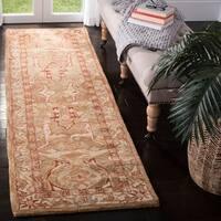 "Safavieh Handmade Anatolia Oriental Straw Beige/ Ivory Hand-spun Wool Rug - 2'3"" x 8' Runner"