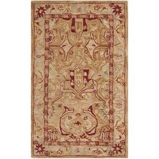 Safavieh Handmade Anatolia Oriental Straw Beige/ Ivory Hand-spun Wool Rug (3' x 5')