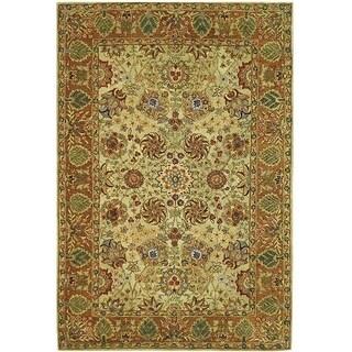 Safavieh Handmade Anatolia Oriental Green/ Gold Hand-spun Wool Rug (9'6 x 13'6)