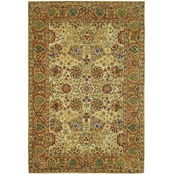 Safavieh Handmade Anatolia Oriental Green/ Gold Hand-spun Wool Rug - 8' x 10'