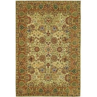 Safavieh Handmade Anatolia Oriental Green/ Gold Hand-spun Wool Rug (9' x 12')