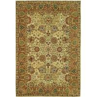 Safavieh Handmade Anatolia Oriental Green/ Gold Hand-spun Wool Rug - 9' x 12'