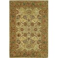 Safavieh Hand-made Anatolia Green/ Gold Hand-spun Wool Rug (9' x 12')