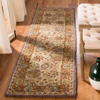 Safavieh Handmade Anatolia Oriental Green/ Gold Hand-spun Wool Rug - 2'3 x 12'