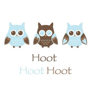 'Blue Owl Trio Hoot' Print Art