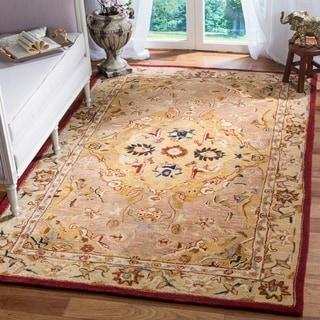 Safavieh Handmade Anatolia Oriental Traditional Gold/ Ivory Hand-spun Wool Rug (8' x 10')