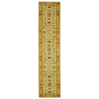 Safavieh Handmade Tribal Ivory/ Gold Wool Rug (2'3 x 22')