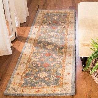 Safavieh Handmade Legacy Light Blue Wool Rug (2'3 x 6')
