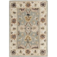 Safavieh Handmade Kerman Light Blue/ Ivory Gold Wool Rug - 2' X 3'
