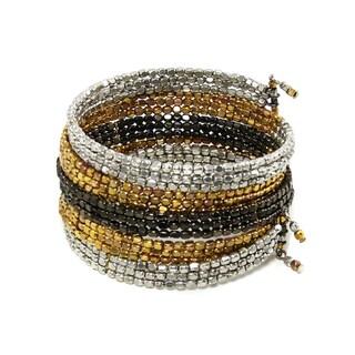 Handmade Ombre Metallic Serpent Wrap Bracelet (India)