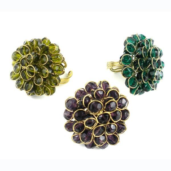 Handmade Chrysanthemum Ring (India)