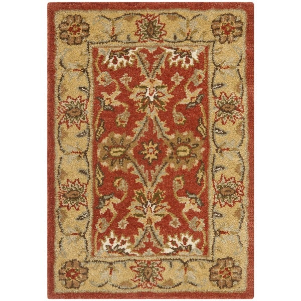 Safavieh Handmade Kerman Rust/ Gold Wool Rug - 2' x 3'