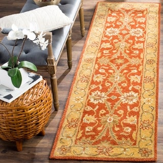 Safavieh Handmade Kerman Rust/ Gold Wool Rug (2'3 x 10')