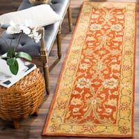 "Safavieh Handmade Kerman Rust/ Gold Wool Rug - 2'3"" x 10'"