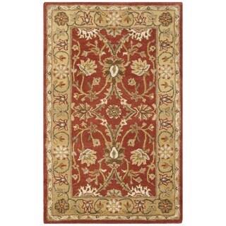 Safavieh Handmade Kerman Rust/ Gold Wool Rug (2'3 x 4')