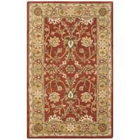 "Safavieh Handmade Kerman Rust/ Gold Wool Rug - 2'3"" x 4'"