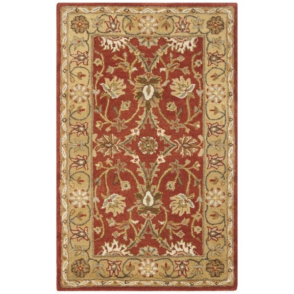 Safavieh Handmade Kerman Rust/ Gold Wool Rug - 2'3 x 4'