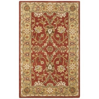 Safavieh Handmade Kerman Rust/ Gold Wool Rug (4' x 6')
