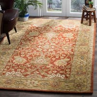 Safavieh Handmade Kerman Rust/ Gold Wool Rug - 6' x 9'