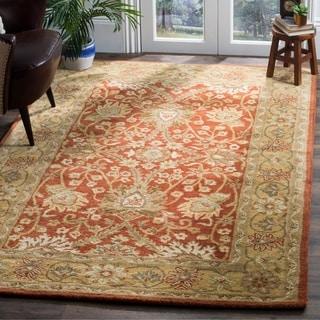 Safavieh Handmade Kerman Rust/ Gold Wool Rug (7'6 x 9'6)