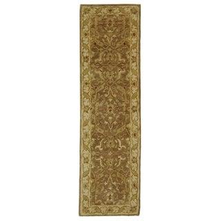Safavieh Handmade Antiquities Treasure Brown/ Gold Wool Rug (2'3 x 6')