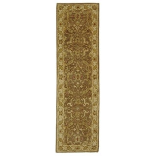 Safavieh Handmade Antiquities Treasure Brown/ Gold Wool Rug - 2'3 x 6'