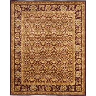 Safavieh Handmade Heritage Wine Red Wool Rug (9'6 x 13'6)