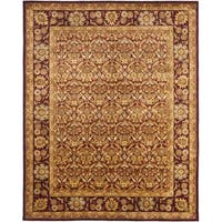 "Safavieh Handmade Heritage Wine Red Wool Rug - 9'6"" x 13'6"""