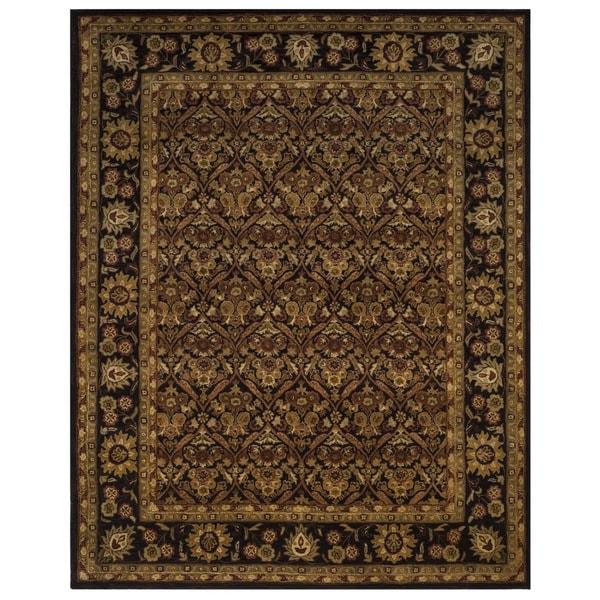 Safavieh Handmade Treasured Dark Plum Wool Rug (7'6 x 9'6) - 7'6 x 9'6