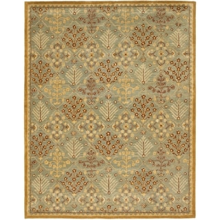 Safavieh Handmade Antiquities Light Blue/ Gold Wool Rug (9' x 12')
