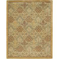 Safavieh Handmade Antiquities Light Blue/ Gold Wool Rug - 9' x 12'