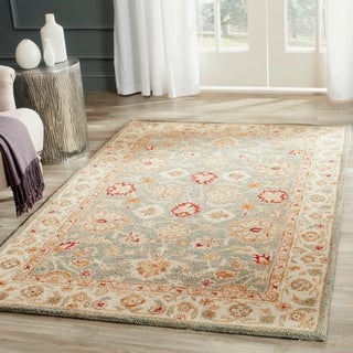 Safavieh Handmade Antiquity Grey/ Beige Wool Rug (5' x 8')