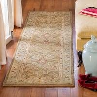 "Safavieh Handmade Antiquity Light Brown/ Beige Wool Rug - 2'3"" x 18'"
