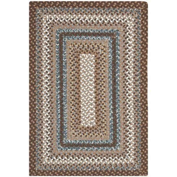 Safavieh Hand-woven Reversible Brown Braided Rug (2'6 x 5') - 2'6 x 5'