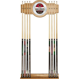 George Killians 2-piece Wood and Mirror Wall Cue Rack