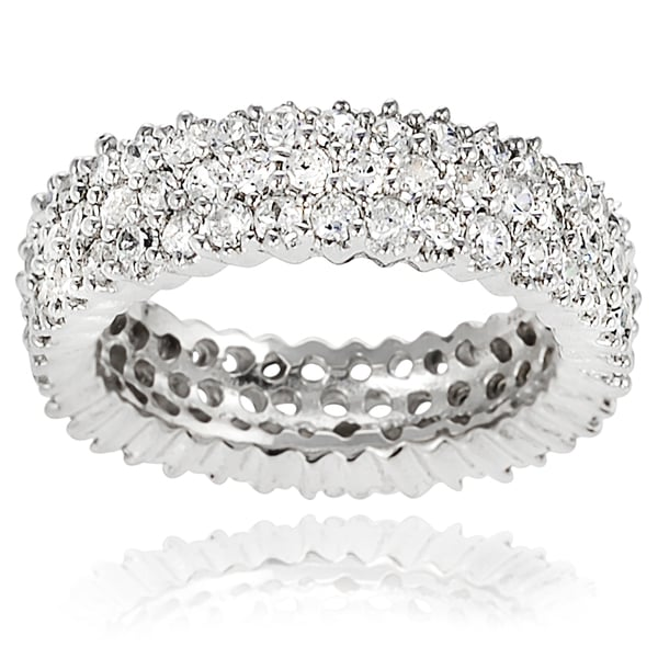 Journee Collection Sterling Silver Cubic Zirconia Band-style Ring