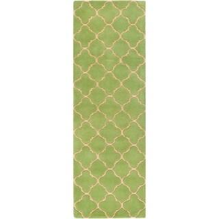 Safavieh Handmade Moroccan Chatham Green Wool Rug (2'3 x 9')