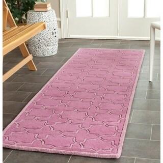 Safavieh Handmade Moroccan Chatham Pink Wool Rug (2'3 x 11')