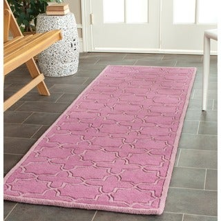 Safavieh Handmade Moroccan Chatham Pink Wool Rug (2'3 x 9')