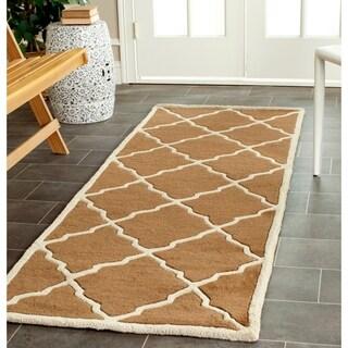 Safavieh Handmade Moroccan Chatham Brown Wool Rug (2'3 x 9')