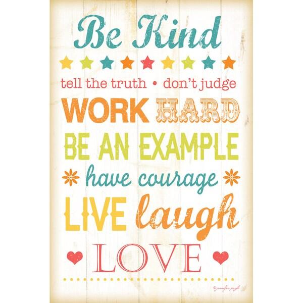Jennifer Pugh 'Be Kind' Paper Print (Unframed)
