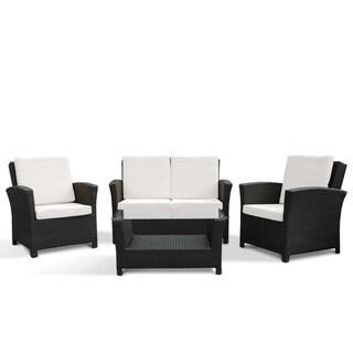 Rimini by Beliani Resin Wicker Patio Sofa Set