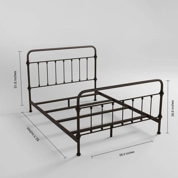 giselle antique graceful dark bronze victorian iron bed by inspire q classic free shipping today